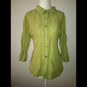 French Laundry Womens Button Down Shirt